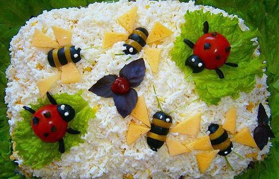 """Результат пошуку зображень за запитом """"Салат с крабовыми палочками — Пчелки"""""""