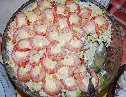 """Результат пошуку зображень за запитом """"слоеный салат с креветками"""""""