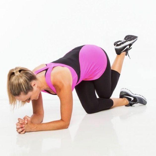 Упражнения для ягодиц: подъём согнутой ноги